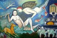 De La Habana a Berlín. Acrílico Tela, 193 x 130 cm